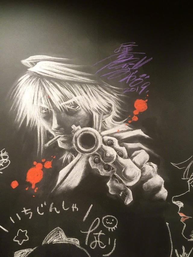 日本网友吐槽:这是我在教室黑板画的 趣闻八卦 第2张